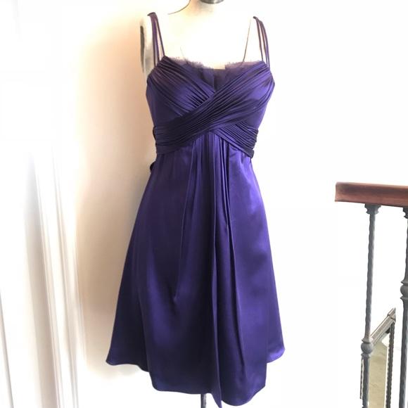 deep purple cocktail dress